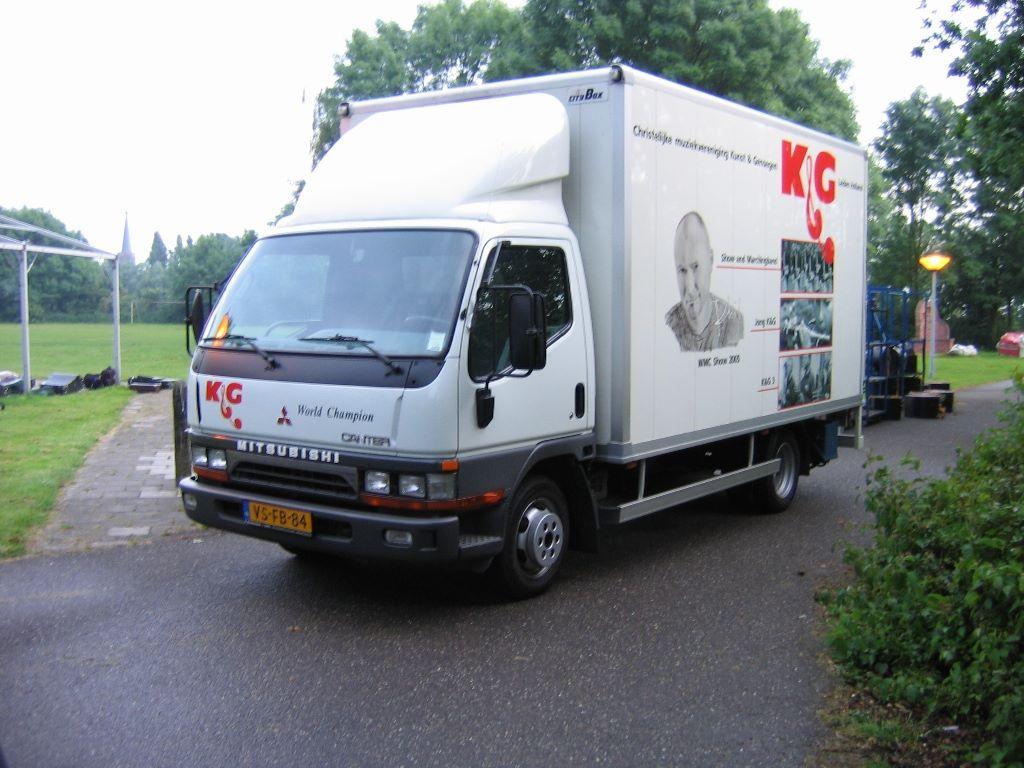 De materiaalwagen is aangepast aan de nieuwe WMC show