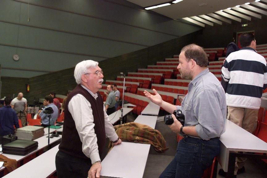 2000 - Overleg tussen Marinus Vuijk en Tom de Beer tijdens CD opname