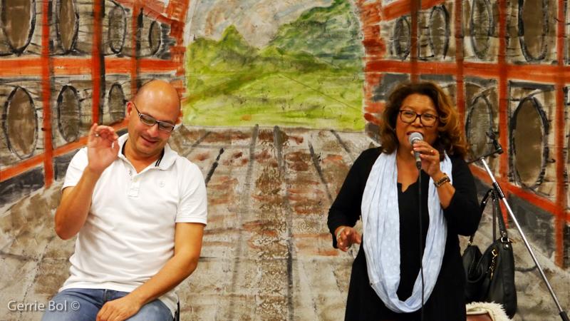 2015 - René Leckie tijdens repetitie met Justine Pelmelay