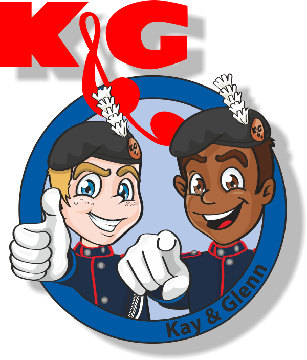 Kay & Glenn, de mascottes van K&G University