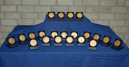 Gouden medailles gewonnen tijdens de diverse WMC's