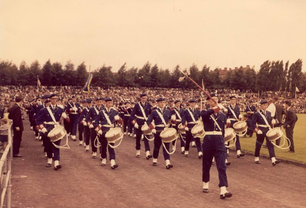K&G tijdens de marswedstrijd in 1962