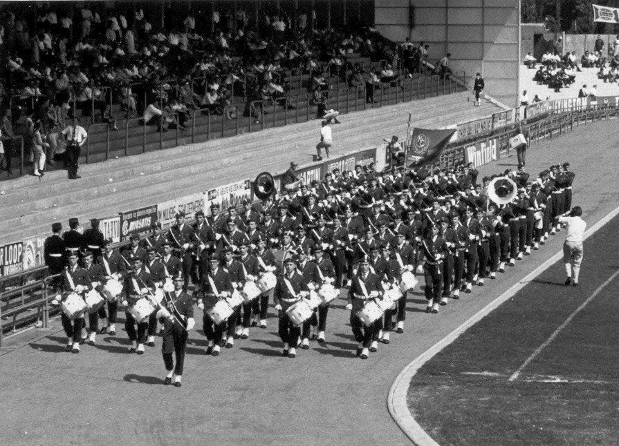 K&G tijdens de marswedstrijd in 1966