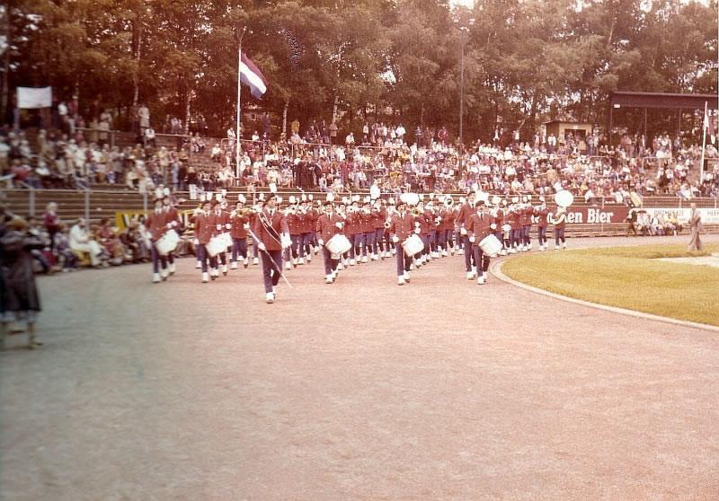 K&G tijdens de marswedstrijd in 1978