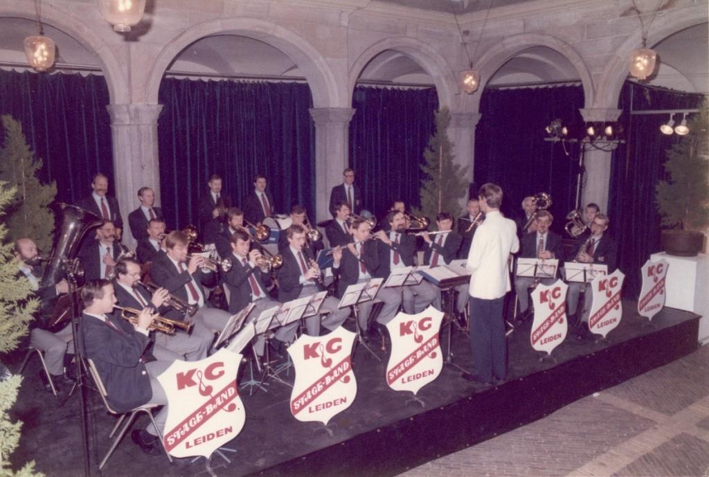 Eerste optreden van de Stageband van K&G in de Waag in Leiden