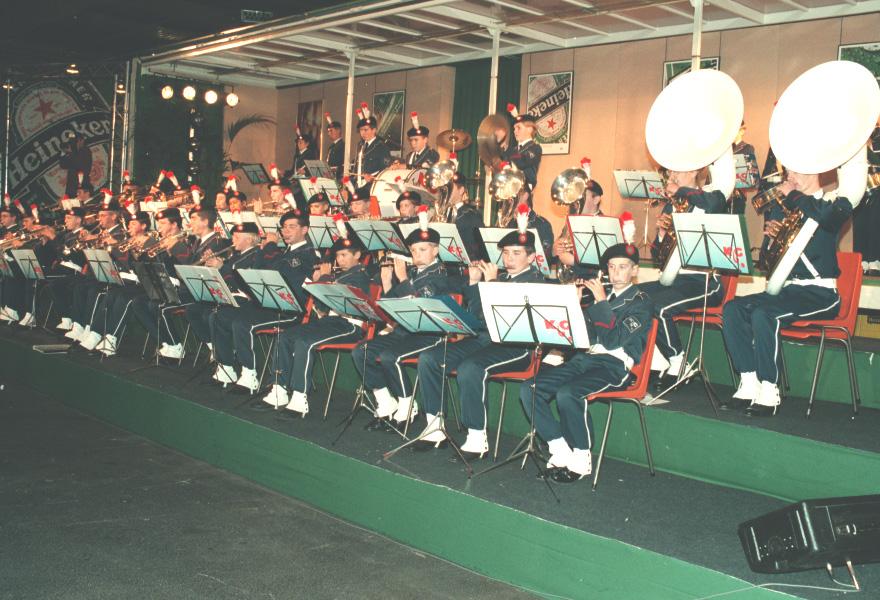 Jong K&G geeft een concert bij bierbrouwerij Heineken